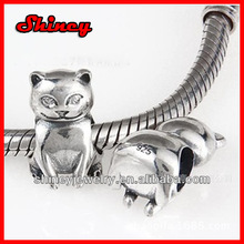 sterling silver european bead animals for snake chain bracelet