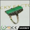 Wholesale Fashion European Statement jewelry antique jade ring