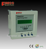 three phase panel mounted kwh meter modbus power meter