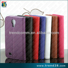 high quality leather wallet stand case for samsung galaxy s4 i9500