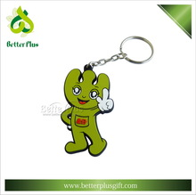 Cheap Fashion Custom Design Cartoon Shape Soft Rubber Key Chain