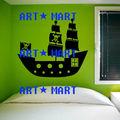 Navio pirata adesivos de parede dos miúdos meninos piratas quarto vela arte em vinil adesivo autocolante não. 9255