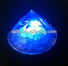Pyramid Shape LED light up Ice for bars / LED flashing ice in diamond shape