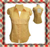 2014 Summer Cap Sleeve Women Neck And Back Design Blouse
