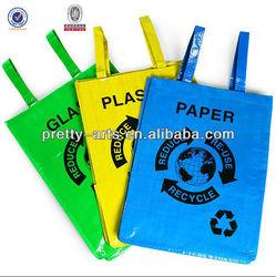 2014 hot new 100% eco-friendly reusable pp woven shopping handbags