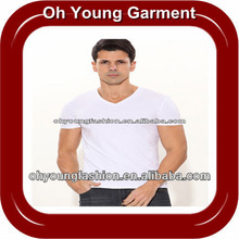 Mens soft Pure Cotton Tight Fit V-Neck Blank T-Shirts With Your Design ,Dri Fit T-Shirts with your design