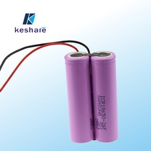 Factory manufacturer 7.4v 2600mah 2S1P 18650 li-ion battery pack