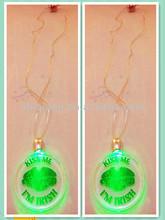 2014 latest design flashing led necklace
