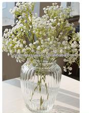 Classic clear glass vase fashion home decor furnishings