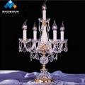 moderna de cristal barato suporte de vela