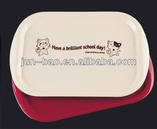 Plastic plate for food carrying. reusable hard plastic plate for students, pp plastic plate