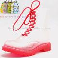 soft botas de chuva transparente vermelho martin chuva boot hcg injeção com correspondência para meias