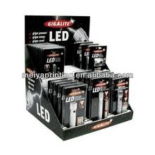 Unique design Custom Counter top Cardboard table Displays Racks/stand/holder for LED light promotion e-cigarette pens
