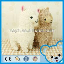 Carrefour supplier 28cm plush toy alpaca fabric stuffed animals