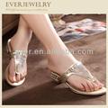 2015 nova moda mulheres sandália strass enfeites