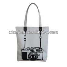 Stylish White Camera Printer Tote Handbag(BXZZ028)
