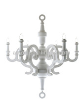 Decorative Paper Chandelier Lighting White Black Color Hanging Lamp Chandelier Pendant lighting