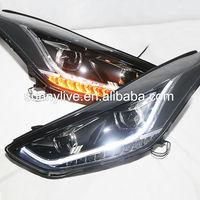 For HYUNDAI Avante i35 Elantra LED Head Lights 2011-14 year TLZ