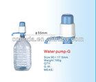 bottled drinking hand pump water
