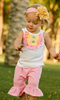 Bulk Wholesale Carters Kids Clothing Sets Solid Cotton Baby Sleeveless T-shirt Matching Ruffle Stripe Capri Pant Baby Clothes