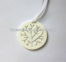 2014 Customized Circular Round Engraving Aroma Fragrance Plaster Stone Diffuser Decorative Hanging Pendant