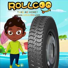 Truck Tires for Oil transportation, ROLLCOO Brand,12.00R24, excellent in tearing resistance Middle East Market 12.00R24