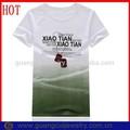 Moda slogan promozionale t shirt con prezzo all'ingrosso