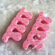 Super practical candy color sponge toe and nail seperator nail tool