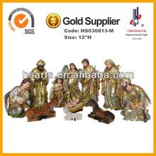 12''H polyresin holy family, polyresin nativity set, polyresin christian statue