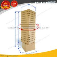 SlatWall Merchandiser, rotating tower, free standing slatwall display stand