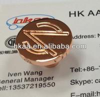 Customized brass flat head screw with logo engraved,gold plating flat screw