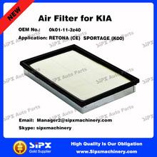 OEM 0k01-11-3z40 Air Filter in Air Intake System For KIA RETONA (CE) SPORTAGE (K00)