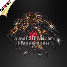 Wholesale tiger glitter hotfix rhinestone t-shirt motif