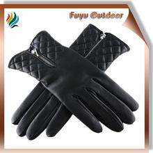 OEM/ODM xinji long black driving lambskin plain style lined women gloves for driving