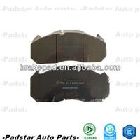 WVA29030 brake system E-mark C.V Brake Pads for heat truck atego 1823