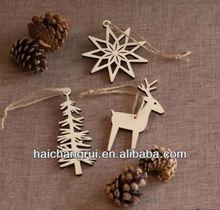 Laser cut wood Christmas ornament / snowflake / deer / tree