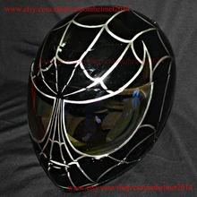 Custom Paint Motorcycle Helmet Superbike Bike Race Carting DOT Black Spiderman CH11