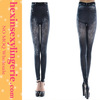 Fashion design imitated wide cheap women sexy jeans leggings tights