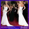 White Peplum Mermaid Sleeveless Open Back Long Elegant Celebrity Bandage Dress Usa Wholesale