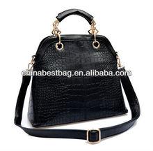 Hot selling cheap lady tote bag crocodile leather handbag