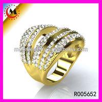 WHOLESALE POPULAR BRILLIANT GOLD RINGS NEW MODEL 2013 R005652