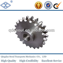 Double-Type-B 08B-2 DIN 8187 ISO/R 606 pitch 12.7 roller 8.51 42T C 45 roller chain sprockets 1/2 ''*5/16''