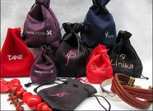 velvet drawstring gift pouch made in lanxi