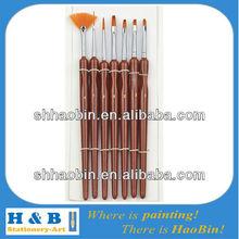 short handle synthetic oil artist brush