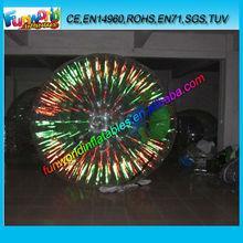 2014 Fluorescent Light Grassplot Zorb Ball for Kids (FUNZB1-015)