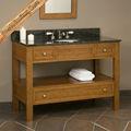 moderno 18mm sólido de madera de roble americano de madera rta gabinete de cuarto de baño con espejo