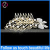 Fashion Latest Design Wedding Accessories Yiwu Jewelry Factory Pearl Crystal Bowknot Bridal Leaf Hair Accessories Hair Clip