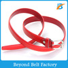 Women's Fashion Red Faux Leather Belt for Jeans in Stock