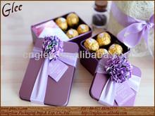 tin material wedding favors box