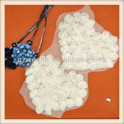 fashion garment lace flower applique for dress/wedding decoration